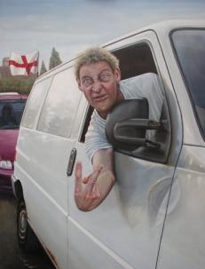 white van driver
